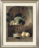 Grapes, Peaches And Quinches In A Niche, 1883 Print by Frans Snyders