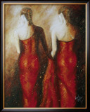 Ladies in Red Print by Roel Hofman