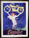 Terrot and Cie Motorcycle Framed Giclee Print by Robert Guzarl