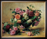 Still Life with Mixed Roses Prints by Albert Williams