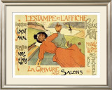 Estampe and Affiche Framed Giclee Print by Jean Miscelas Peske