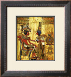 Tutankhamen Annointed by Wife Framed Giclee Print