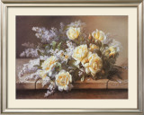 Still Life with Yellow Roses Art by Raoul 