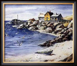 Surf Sand and Rocks Print by Henry Gasser