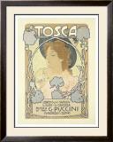 Tosca Framed Giclee Print by Leopoldo Metlicovitz