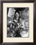 Placating the Spirit of a Slain Eagle, Assiniboin Print by Edward S. Curtis