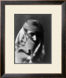 Wrapped in Blanket Framed Giclee Print by Edward S. Curtis