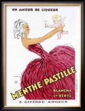 Menthe-Pastille Framed Giclee Print by Jules Isnard Dransy