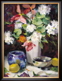 Geraniums and Lemons Posters by Maureen Jordan