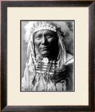 Nez Perc Head Dress Framed Giclee Print by Edward S. Curtis
