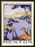 Menton Framed Giclee Print