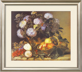 Hydrangea in an Urn Prints by Johan Laurentz Jensen