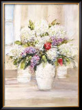 Bouquet of Hydrangeas Poster by Jerry Sic