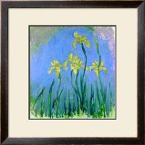 Les Iris Jaunes Print by Claude Monet