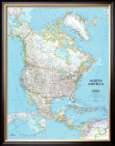 North America Political Map Poster