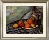 Fruit and a Jug on a Table Poster by Paul Cézanne