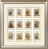 Twelve Months of Flowers Print by Robert Furber