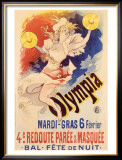 Olympia Framed Giclee Print by Jules Chéret