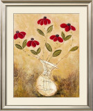 Five Red Flowers Prints by Viola Lee