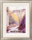 Nice, Coni Railway Train Framed Giclee Print by Adolphe Cossard