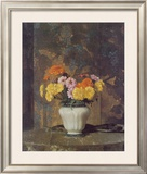 Zinnias And Marigolds Poster by Hermann Dudley Murphy