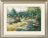 Garden Trellis Print by T. C. Chiu