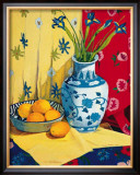 Irises in an Oriental Vase II Prints by Curtis Kelly