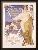 Expo Suisse de l'Automobile Framed Giclee Print