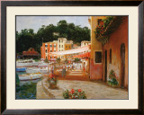 Morning Stroll in Portofino Posters by George W. Bates