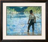 Salmon Fishing, 1927 Prints by Frank Weston Benson