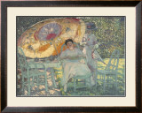 The Garden Parasol, 1910 Art by Frederick Carl Frieseke