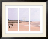 Beach Triptych Print by Bill Philip