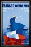 France d'Outre-Mer Framed Giclee Print by Paul Colin