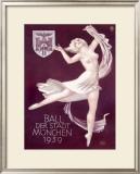 Ball Der Stadt Munchen Framed Giclee Print by Richard Klein