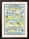 Chocolate Youth Sports Framed Giclee Print