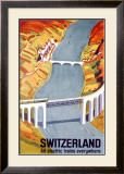 Electric Train Railway Framed Giclee Print