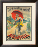 Cycles Decauville Framed Giclee Print by Ernest Clouet