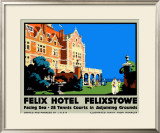 Felix Hotel Framed Giclee Print by Frank Newbould