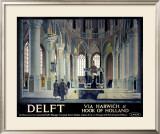 Delft, Via Harwich & Hook of Holland Framed Giclee Print