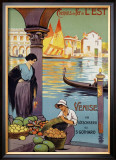 Venise Framed Giclee Print by Louis Lessieux