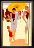 Filey for the Family Framed Giclee Print by Reginald Edward Higgins