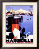 Marseille, Porte de l'Afrique Framed Giclee Print by Roger Broders