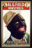 Burt Swor, Minstrel Comedian Framed Giclee Print