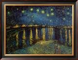 Noite estrelada sobre o Ródano, cerca de 1888 Pôsteres por Vincent van Gogh