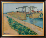The Drawbridge at Arles Posters by Vincent van Gogh
