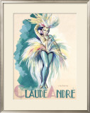 Claude Andree Maquette Framed Giclee Print by Jean-Dominque Van Caulaert