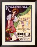 Maskenball Union Hotel, Zurich Framed Giclee Print