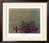 Fur Traders on the Missouri Prints by George Caleb Bingham