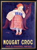 Nougat Croc Framed Giclee Print by A. Cometti