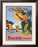 Mid-Pacific Carnival, Honolulu, 1916 Posters